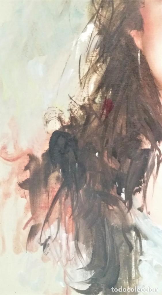 Arte: Precioso retrato de joven morena- Óleo sobre lienzo, lujosamente enmarcado - Envío gratis Península - Foto 23 - 235580620