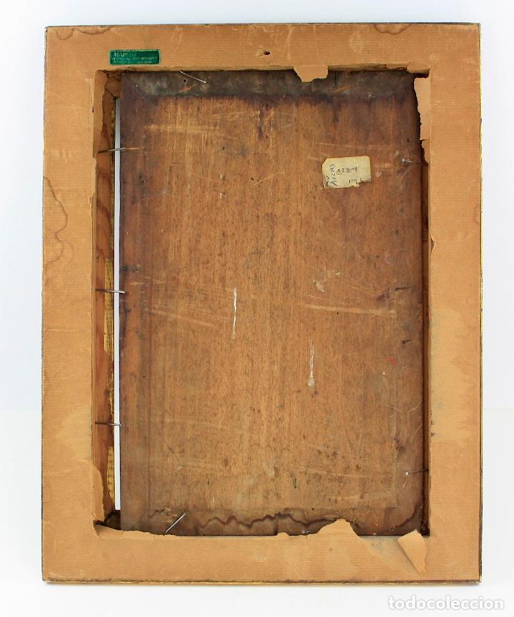 Arte: Paisaje, pintura al óleo sobre madera, sin firmar, con marco. 37x24cm - Foto 3 - 235650015