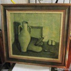 Arte: BODEGON - OLEO SOBRE TABLA - FIRMADO Y FECHADO. Lote 235796865