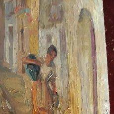 Arte: OLEO SOBRE TABLA TRAZO IMPRESIONISTA DE MANUEL MORENO GIMENO 1900-1982. Lote 235867085