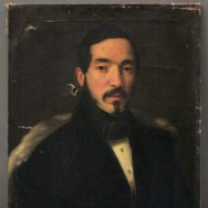 Arte: RETRATO DE PERSONAJE POR IDENTIFICAR, AÑO 1839, ÓLEO SOBRE LIENZO A RESTAURAR 48X61,5CM.. Lote 235921060