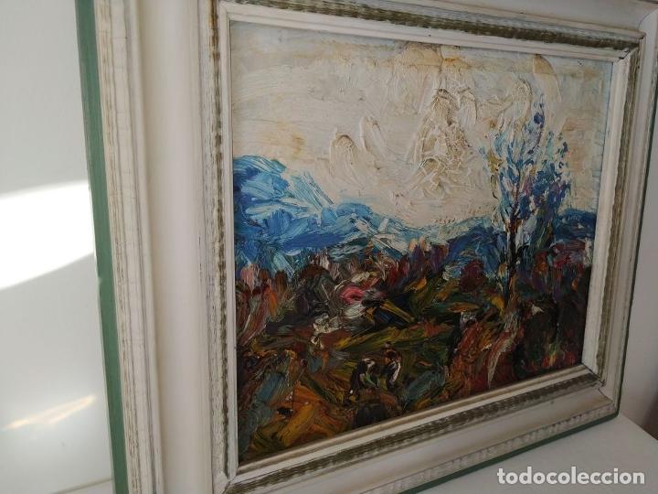 Arte: PAISAJE. FIRMADO. JOAN ABELLÓ. ÓLEO SOBRE TABLEX ENTELADO. ESPAÑA. 1960 - Foto 4 - 235964400