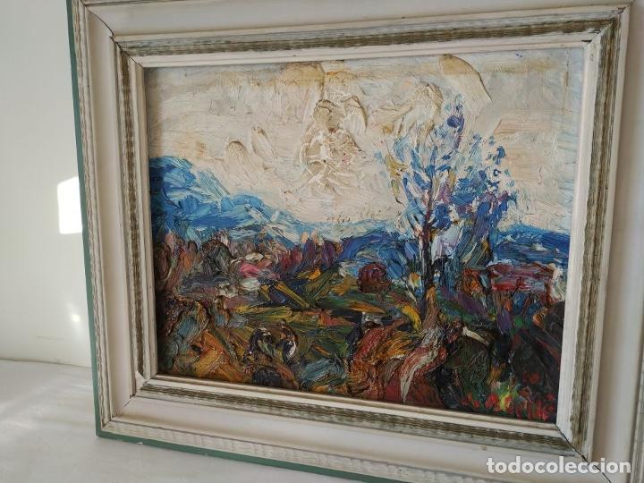 Arte: PAISAJE. FIRMADO. JOAN ABELLÓ. ÓLEO SOBRE TABLEX ENTELADO. ESPAÑA. 1960 - Foto 5 - 235964400