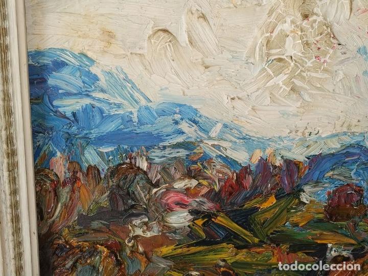 Arte: PAISAJE. FIRMADO. JOAN ABELLÓ. ÓLEO SOBRE TABLEX ENTELADO. ESPAÑA. 1960 - Foto 10 - 235964400