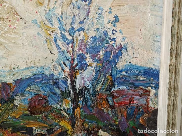 Arte: PAISAJE. FIRMADO. JOAN ABELLÓ. ÓLEO SOBRE TABLEX ENTELADO. ESPAÑA. 1960 - Foto 11 - 235964400