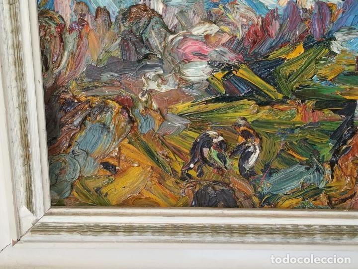Arte: PAISAJE. FIRMADO. JOAN ABELLÓ. ÓLEO SOBRE TABLEX ENTELADO. ESPAÑA. 1960 - Foto 12 - 235964400