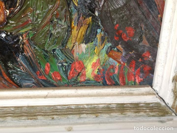 Arte: PAISAJE. FIRMADO. JOAN ABELLÓ. ÓLEO SOBRE TABLEX ENTELADO. ESPAÑA. 1960 - Foto 13 - 235964400