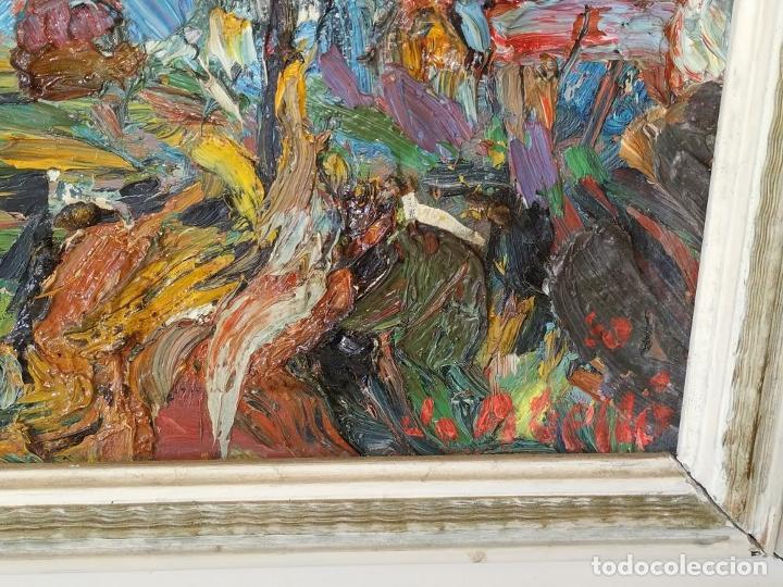 Arte: PAISAJE. FIRMADO. JOAN ABELLÓ. ÓLEO SOBRE TABLEX ENTELADO. ESPAÑA. 1960 - Foto 15 - 235964400