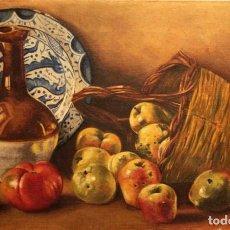 Arte: G. BERNABEU. S.XIX-XX BODEGÓN AL OLEO SOBRE LIENZO. 35X50CM. Lote 236019165