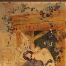 Arte: ATRIBUIDO A HORACIO LENGO (S.XIX) - LA CUERDA SENSIBLE. 38X25CM(ENMARCADO). Lote 236020110
