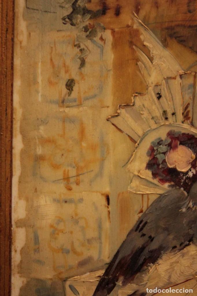 Arte: Atribuido a Horacio Lengo (s.XIX) - La cuerda sensible. 38x25cm(enmarcado) - Foto 8 - 236020110