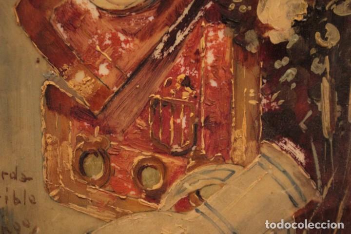 Arte: Atribuido a Horacio Lengo (s.XIX) - La cuerda sensible. 38x25cm(enmarcado) - Foto 9 - 236020110