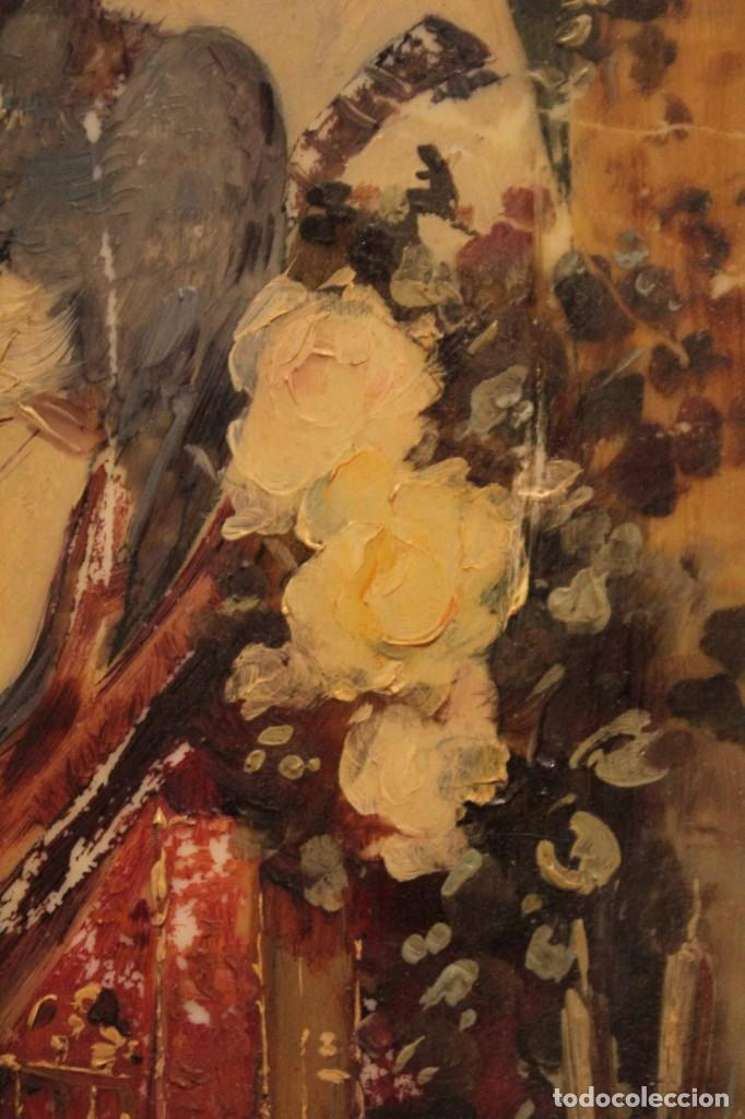 Arte: Atribuido a Horacio Lengo (s.XIX) - La cuerda sensible. 38x25cm(enmarcado) - Foto 10 - 236020110