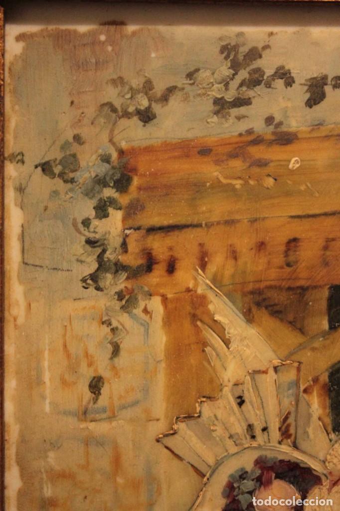 Arte: Atribuido a Horacio Lengo (s.XIX) - La cuerda sensible. 38x25cm(enmarcado) - Foto 11 - 236020110