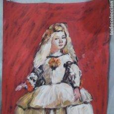 Arte: MENINAS (ORIGINAL). Lote 236049690