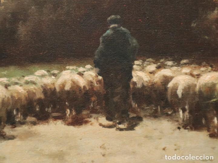 PAISAJE DE PASTOR CON SUS OVEJAS. EDUART PAIL (FRANCIA 1851 - 1916). Ó/LIENZO. MED: 72 X 51 CM. (Arte - Pintura - Pintura al Óleo Moderna siglo XIX)