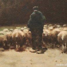 Arte: PAISAJE DE PASTOR CON SUS OVEJAS. EDUART PAIL (FRANCIA 1851 - 1916). Ó/LIENZO. MED: 72 X 51 CM.. Lote 236050310