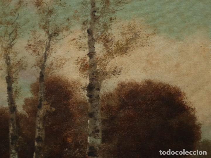 Arte: Paisaje de pastor con sus ovejas. Eduart Pail (Francia 1851 - 1916). Ó/lienzo. Med: 72 x 51 cm. - Foto 11 - 236050310