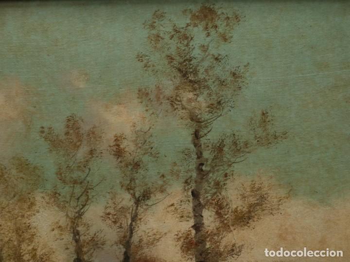 Arte: Paisaje de pastor con sus ovejas. Eduart Pail (Francia 1851 - 1916). Ó/lienzo. Med: 72 x 51 cm. - Foto 12 - 236050310