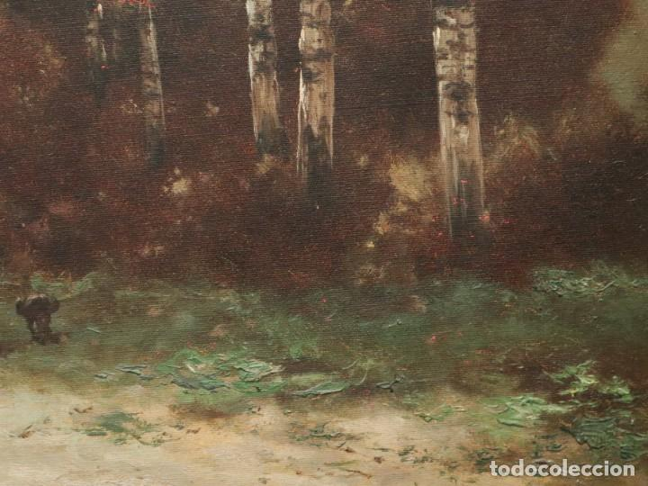 Arte: Paisaje de pastor con sus ovejas. Eduart Pail (Francia 1851 - 1916). Ó/lienzo. Med: 72 x 51 cm. - Foto 13 - 236050310