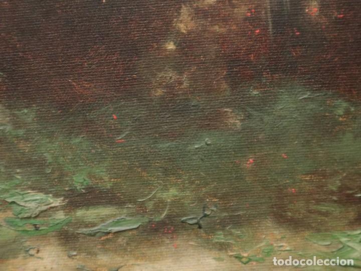 Arte: Paisaje de pastor con sus ovejas. Eduart Pail (Francia 1851 - 1916). Ó/lienzo. Med: 72 x 51 cm. - Foto 14 - 236050310