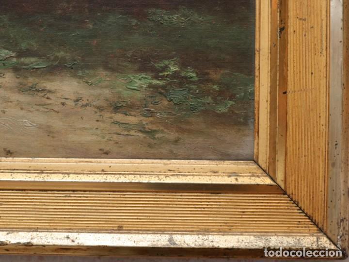 Arte: Paisaje de pastor con sus ovejas. Eduart Pail (Francia 1851 - 1916). Ó/lienzo. Med: 72 x 51 cm. - Foto 18 - 236050310