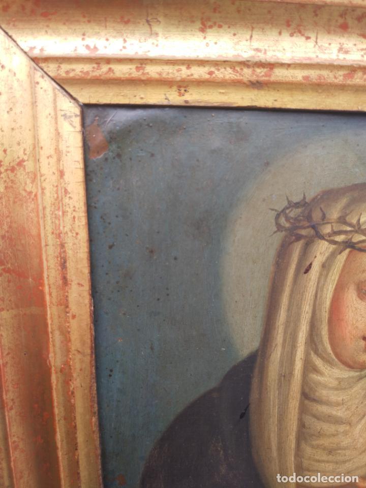 Arte: Antiguo óleo sobre cobre imagen de Santa Catalina de Siena - Foto 14 - 27394754
