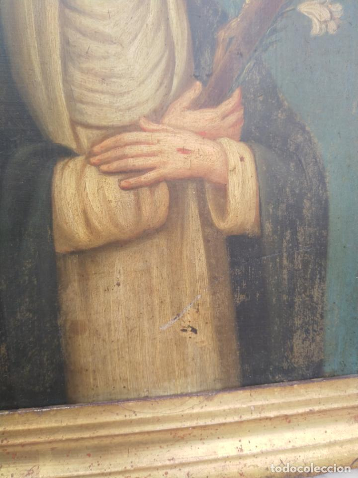 Arte: Antiguo óleo sobre cobre imagen de Santa Catalina de Siena - Foto 19 - 27394754