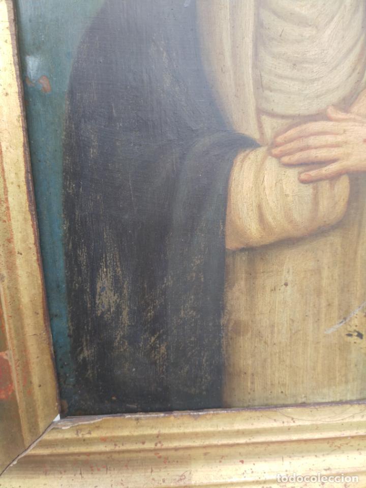 Arte: Antiguo óleo sobre cobre imagen de Santa Catalina de Siena - Foto 20 - 27394754