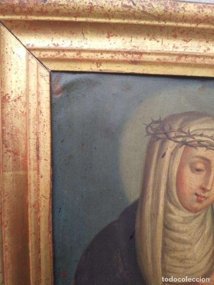 Arte: Antiguo óleo sobre cobre imagen de Santa Catalina de Siena - Foto 21 - 27394754