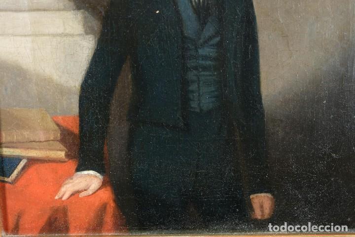 Arte: Óleo sobre lienzo Retrato niño siglo XIX - Foto 5 - 236238335