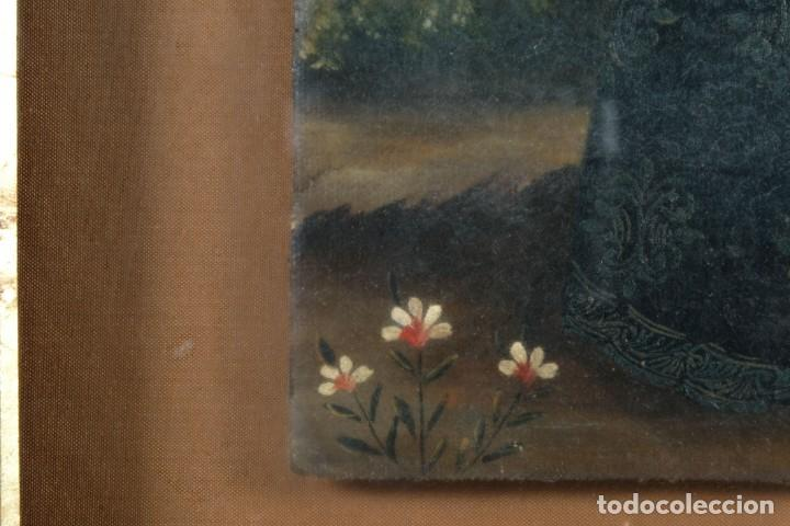 Arte: Óleo sobre lienzo pegado a táblex Santo Escuela colonial siglo XVIII - Foto 6 - 236239160