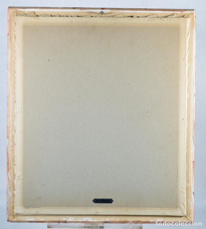 Arte: Óleo sobre lienzo pegado a táblex Santo Escuela colonial siglo XVIII - Foto 7 - 236239160