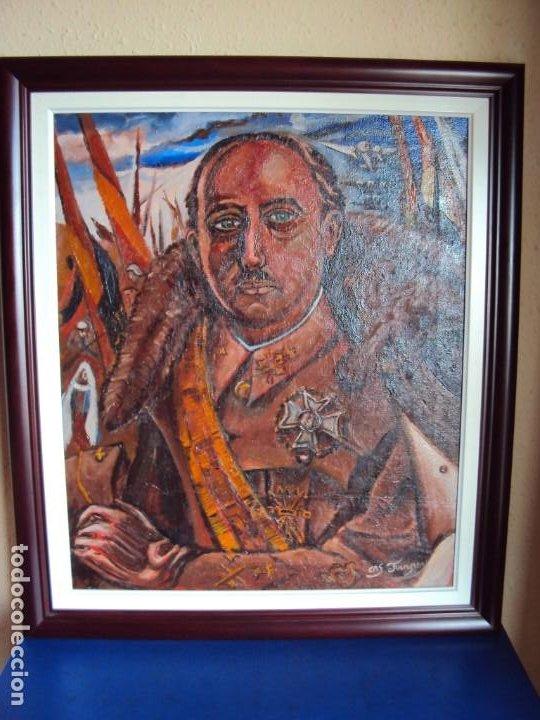 (PINT-210100)OLEO SOBRE LIENZO DEL GENERALISIMO FRANCISCO FRANCO-CAS FRAGUAS-PINTOR DE LOS ENCANTS (Arte - Pintura - Pintura al Óleo Moderna sin fecha definida)