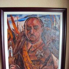 Arte: (PINT-210100)OLEO SOBRE LIENZO DEL GENERALISIMO FRANCISCO FRANCO-CAS FRAGUAS-PINTOR DE LOS ENCANTS. Lote 236313540
