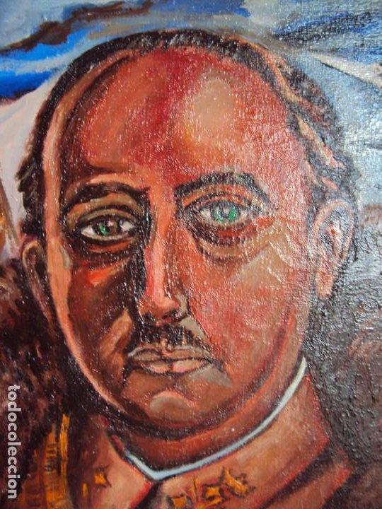 Arte: (PINT-210100)OLEO SOBRE LIENZO DEL GENERALISIMO FRANCISCO FRANCO-CAS FRAGUAS-PINTOR DE LOS ENCANTS - Foto 2 - 236313540