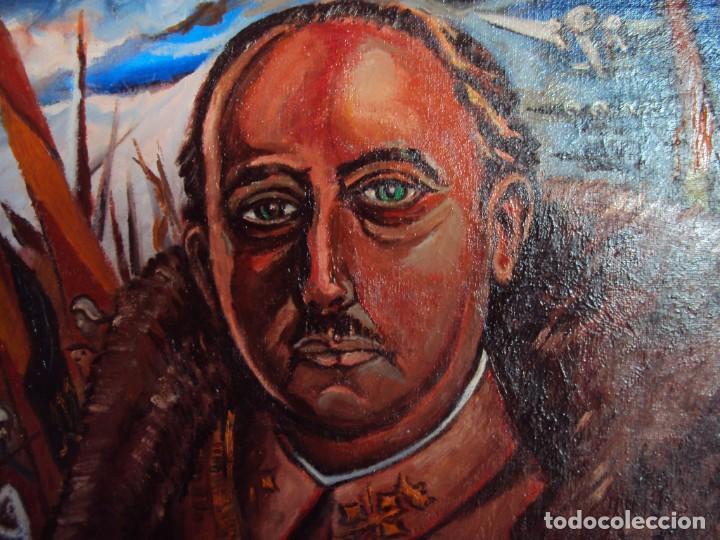 Arte: (PINT-210100)OLEO SOBRE LIENZO DEL GENERALISIMO FRANCISCO FRANCO-CAS FRAGUAS-PINTOR DE LOS ENCANTS - Foto 3 - 236313540