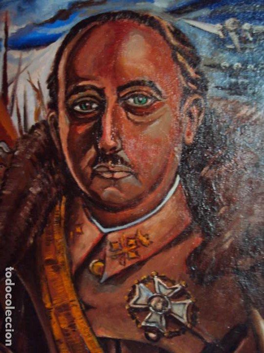 Arte: (PINT-210100)OLEO SOBRE LIENZO DEL GENERALISIMO FRANCISCO FRANCO-CAS FRAGUAS-PINTOR DE LOS ENCANTS - Foto 5 - 236313540