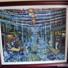 Arte: (PINT-210101)OLEO SOBRE LIENZO FIESTAS DE GRACIA - CAS FRAGUAS - PINTOR DE LOS ENCANTS. Lote 236313810
