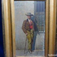 Arte: ANTIGUO ÓLEO SOBRE TABLA FIRMADO R. GARCIA DEL SIGLO XIX.GRAN CALIDAD.. Lote 236455825