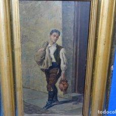 Arte: ANTIGUO ÓLEO SOBRE TABLA FIRMADO R. GARCIA DEL SIGLO XIX.GRAN CALIDAD.. Lote 236456055