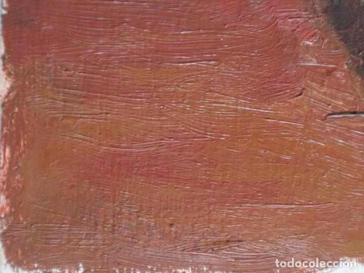 Arte: Bodegón de cerámica y frutas. Óleo sobre tabla. Cataluña, med. S. XX. Mide 40 x 50 cm. - Foto 10 - 236458095