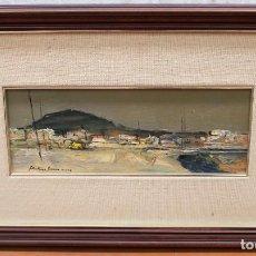 Arte: JOSEP MARTÍNEZ LOZANO - ROSES - OLEO - 15 X 40 CM.. Lote 236508380