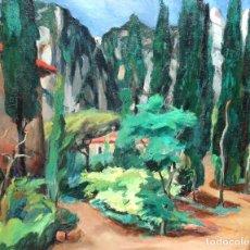 Arte: EMILI BOSCH ROGER ( BARCELONA 1894-1980 ) - EL JARDÍ - AÑO 1931 - 60 X 73 CM. FAUVISTA.. Lote 236542985