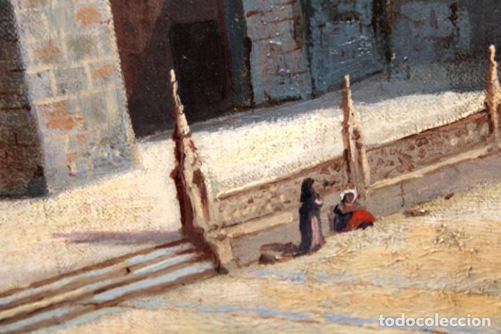 Arte: MANUEL FERNÁNDEZ SANAHUJA (Madrid, 1835 - 1884) OLEO SOBRE TELA DEL AÑO 1877. CATEDRAL DE BURGOS - Foto 8 - 236548955