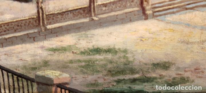Arte: MANUEL FERNÁNDEZ SANAHUJA (Madrid, 1835 - 1884) OLEO SOBRE TELA DEL AÑO 1877. CATEDRAL DE BURGOS - Foto 9 - 236548955