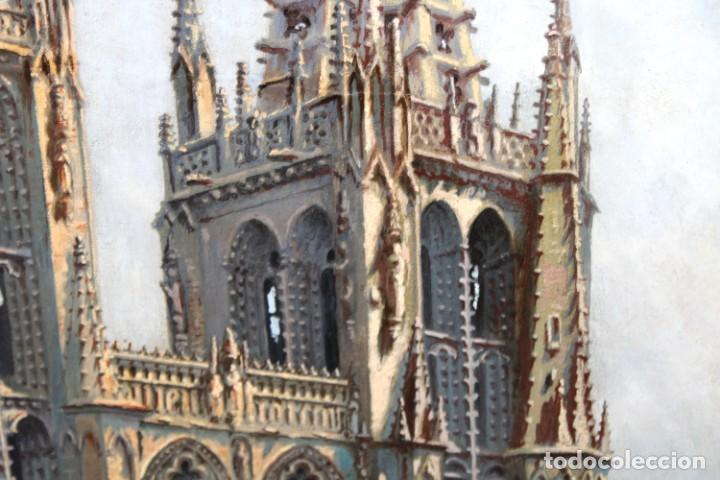 Arte: MANUEL FERNÁNDEZ SANAHUJA (Madrid, 1835 - 1884) OLEO SOBRE TELA DEL AÑO 1877. CATEDRAL DE BURGOS - Foto 15 - 236548955