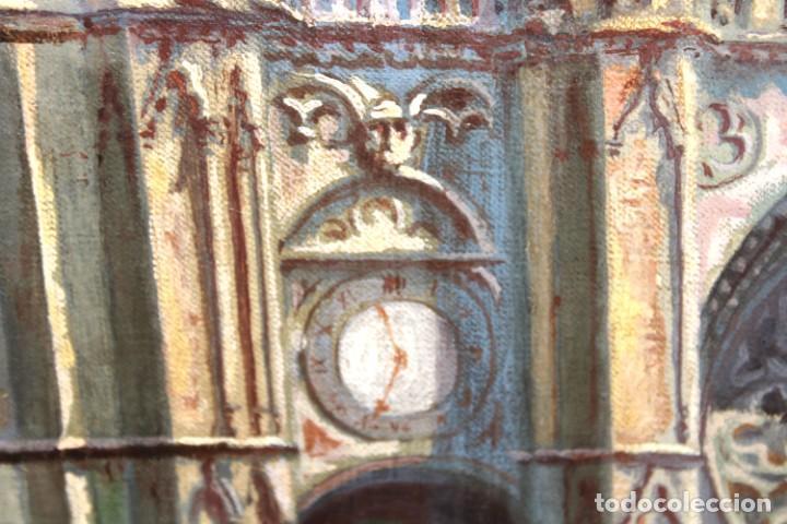 Arte: MANUEL FERNÁNDEZ SANAHUJA (Madrid, 1835 - 1884) OLEO SOBRE TELA DEL AÑO 1877. CATEDRAL DE BURGOS - Foto 18 - 236548955