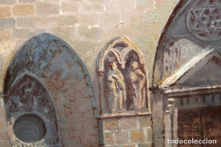 Arte: MANUEL FERNÁNDEZ SANAHUJA (Madrid, 1835 - 1884) OLEO SOBRE TELA DEL AÑO 1877. CATEDRAL DE BURGOS - Foto 21 - 236548955