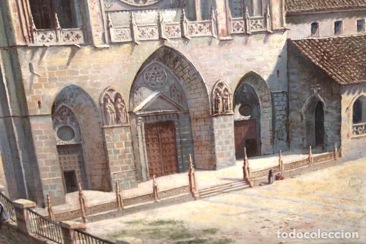 Arte: MANUEL FERNÁNDEZ SANAHUJA (Madrid, 1835 - 1884) OLEO SOBRE TELA DEL AÑO 1877. CATEDRAL DE BURGOS - Foto 23 - 236548955